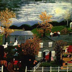 Grandma Moses, Vintage Halloween, New Art, Art History, Folk Art, Art Projects, Literature, Mary, Adventure