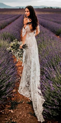 Outdoor Weddings - Such a wondrous boho wedding dresses, the lace, the neckline, simply remarkable. This dresses are a hot trend. The best dresses for boho wedding are here. Outdoor Wedding Dress, Country Wedding Dresses, Perfect Wedding Dress, Wedding Dress Styles, Boho Wedding Dress, Boho Dress, Lace Wedding, Lace Dress, Chic Dress