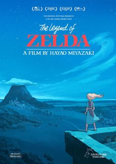An artist has put together concept posters for The Legend of Zelda Nintendo games as a Studio Ghibli / Hayao Miyazaki film, and the results are beautiful. The Legend Of Zelda, Legend Of Zelda Poster, Legend Of Zelda Breath, Hayao Miyazaki, Studio Ghibli Films, Studio Ghibli Poster, Film Manga, Film Anime, Night Film