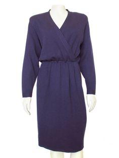 18cb6104db Vintage St. John by Marie Gray Dark Purple Santana Knit Dress. Dresses For  ...