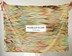 How-Tuesday: Make Your Own Marbled Scarf