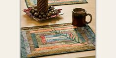 Choose Softly Rich Colors or Match Your Decor! Beautiful batiks form a pretty backdrop for graceful ferns in these lovely place mats. Select colors you love and use them all year long. Seasonal colors will be wonderful too. These are very easy to put together and will be done before you know it. The Courthouse …