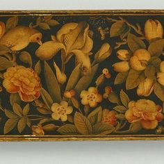 Iranian Art, Flower Bird, Pen Case, Persian, Antiques, Flowers, Painting, Antiquities, Antique