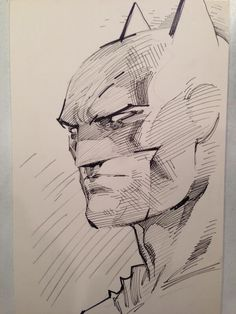 Batman sketch by Jim Lee