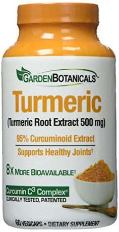 Garden Botanicals Capsules, Turmeric, 60 Count *** You can find out more details at the link of the image.