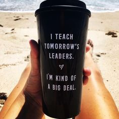 Enjoying the last days before turning some more readers into tomorrow's leaders! Get the mug at BoredTeachers.com!