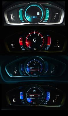 2013 Volvo V40 Performance instrument cluster. If you like UX, design, or design thinking, check out theuxblog.com