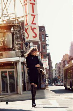 """Street Smart"" Josephine Skriver in Tom Ford for Harpers Bazaar UK September 2014 by Regan Cameron"