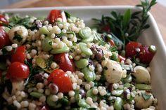 Mediterranean Salad with Israeli Couscous
