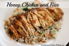 Easy Crock Pot Meals - Honey Chicken and Rice