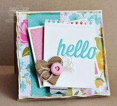 Happy Hellos Die-namics; Heart STAX Die-namics; Insert It - 3x4 Notepad Die-namics - Joanne Basile