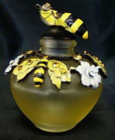 Hand Blown Glass Perfume Bottles | New Yellow Hand Blown Glass Bumble Bee Perfume Bottle