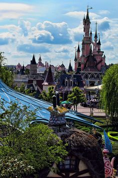 The View Across Fantasyland, Disneyland, Paris