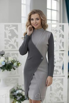 "Stylish business woman suit ""London"" Consists of a sheath dress and cardigan with two buttons Stylischer Business-Anzug ""London"" Besteht aus einem Etuikleid und einer Strickjacke mit zwei Knöpfen Business Outfits, Business Fashion, Business Women, Business Attire, Business Ideas, Model Outfits, Dress Outfits, Fashion Dresses, Woman Outfits"