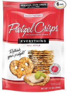 Snack Factory Pretzel Crisps Everything 72 Ounce Pack of 12 >>> You can find more details by visiting the image link.