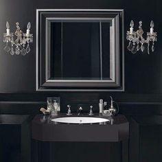#luxury #elegance #b&w #washbasin #corian Corian Sink, Sink Countertop, Countertops, Corian Colors, Wall Mounted Sink, Sinks, Vanity, Contemporary, Mirror