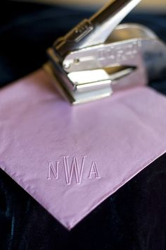 Embossing Stamp (for paper napkins)