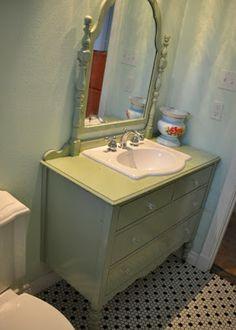 diy dresser to sink vanity | kerstie pederson: DIY Bathroom Remodel Part 4 The END
