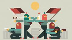 Graphic illustration collection on Behance