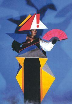 Jean-Paul Goude - Grace Jones maternity dress - 1979