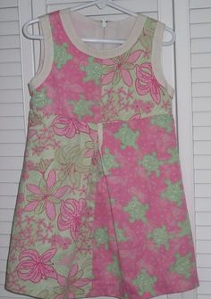 Lilly Pulitzer Child Dress Size 6 Pink Green Turtle Flower Bunny Patchwork  #LillyPulitzer #Everyday