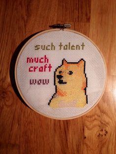 Doge cross stitch reddit u/Nyxia