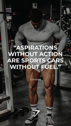 """Aspirations without action are sports cars without fuel."" - Gymshark. Save this to your motivation board for a reminder! #Gymshark #Quotes #Motivational #Inspiration #Motivate #Phrases #Inspire #Fitness #FitnessQuotes #MotivationalQuotes #Positivity #Routine #HealthyMindset #Productive #Aspiration #Wellness #LifeGoals"