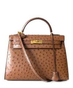 Hermès Kelly Bag Ostrich GHW With Strap 2de hands 32 net als nieuw 100% echt labellov belgie, Antwerpen