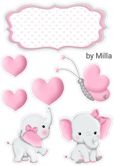 Baby Girl Clipart, Baby Shower Clipart, Kids Scrapbook, Scrapbook Stickers, Shoe Template, Elephant Cakes, Congratulations Baby, Baby Shawer, Elephant Nursery