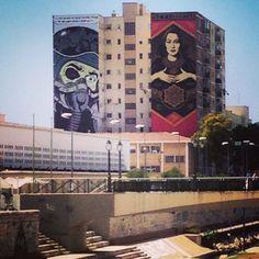 Mural Obey Giant. Malaga, España.