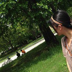 Photo by kitao777 初夏の情景と私。 #30jidori #30ube @ 渡辺翁記念公園 http://instagram.com/p/bc_w18lAs4/
