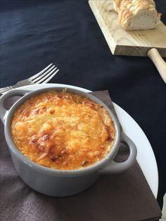Lasagne van courgette. Dit is enkel het eindresultaat. Het recept staat op hetzelfde bord ( daily me)maar achter de foto met de vier potjes lasagne en de oliefles. Smakelijk