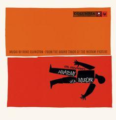 Saul Bass Anatomy of a murder (1959) Album cover