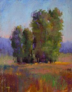 Cottonwood Trees 11x14 Pastel -- Karen Margulis