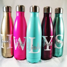 Big Initial and Name S'well Bottle Bridesmaids Yoga by PaperandPi