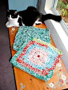 Crochet Jennifer's 20 Minute Rug – Free Pattern - 26 Free Crochet Patterns For Pets to Make Their Life Easier - DIY & Crafts