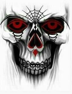 Suky Skull Tattoo Design, Skull Design, Skull Tattoos, Tattoo Designs, Art Tattoos, Badass Skulls, Skull Stencil, Totenkopf Tattoos, Skull Pictures