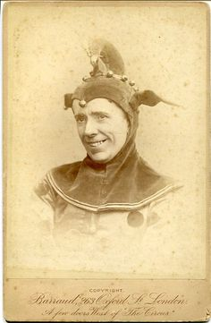 "Cabinet photograph of George Grossmith as Jack Point in the original DOC production of ""The Yeomen of the Guard"" in 1888.  Photo by Barraud."