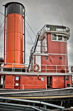 HDR - Tugboat Hercules - Maritime Museum - Hyde Street Pier - Fisherman's Wharf - Hyde Street Pier - San Francisco, CA