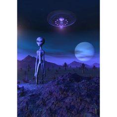 A Grey alien located on its homeworld of Zeta Reticuli Canvas Art - Mark StevensonStocktrek Images (12 x 17) Grunge Goth, Art Grunge, Space Grunge, Alien Aesthetic, Aesthetic Space, Aliens And Ufos, Ancient Aliens, Fotografia Grunge, Zeta Reticuli