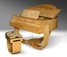 Strohmenger Art Deco Grand Piano 1930 More Want!~