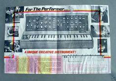 1972 Moog Minimoog Synth Brochure