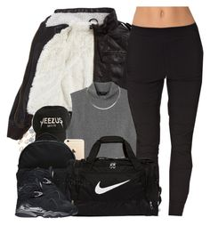 """""""Weekend Travels"""" by oh-aurora ❤ liked on Polyvore featuring Bardot Junior, Monki, adidas Originals, River Island, SELECTED, NIKE, women's clothing, women's fashion, women and female"""