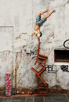 Street Art by Ernest Zacharevic #streetart