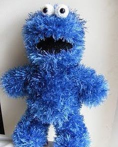 Free Crochet Cookie Monster & Elmo Patterns