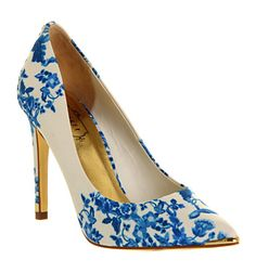 Ted Baker Shoes - I like the printed material. Nice statement shoes and different to all my existing plain ones