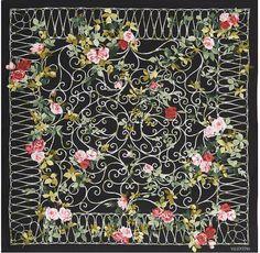 valentino silk scarf | Valentino Rose Trellis Silk Scarf in Floral (rose) - Lyst