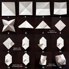 Papier Schachteln falten für Lichterketten