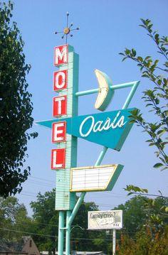 Motel Oasis Fifties Vintage Neon Sign: http://www.flickr.com/photos/losttulsa/89317889