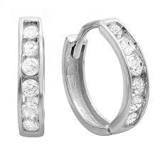 Carat (ctw) White Gold Round Cut Diamond Ladies Mens Unisex Huggie Hoop Earrings CT (Only An outstanding collection of Diamond Jewelry at great prices from Dazzling Rock. Diamond Hoop Earrings, Diamond Studs, Diamond Jewelry, Stud Earrings, Natural Diamonds, Round Diamonds, White Diamonds, Girls Earrings, Wedding Earrings